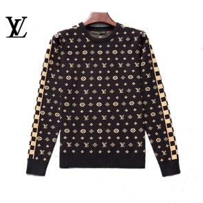 louis vuitton pull nouvelle collection monogram gold round neck