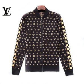 louis vuitton pull nouvelle collection zipper gold flower