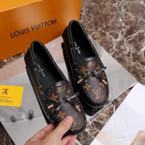 louis vuitton femme chaussure 2020 leather shoes casual black brown