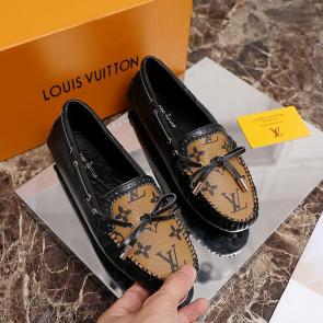 louis vuitton femme chaussure 2020 leather shoes casual black yellow