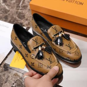 louis vuitton femme chaussure 2020 leather shoes with flat heels yellow