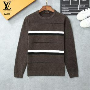 louis vuitton pulls marque streetwear knitting gray