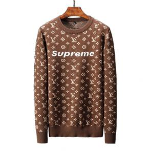 louis vuitton pulls marque streetwear supreme brown