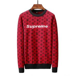 louis vuitton pulls marque streetwear supreme rouge