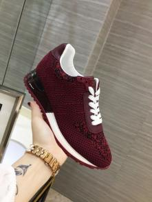 louis vuitton run away sneakers femmess price top layer cowhide and flying fabric red