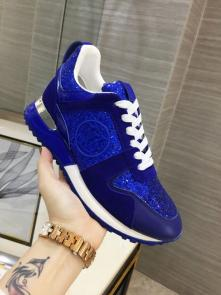 louis vuitton run away sneakers femmess price top layer cowhide with sequins blue
