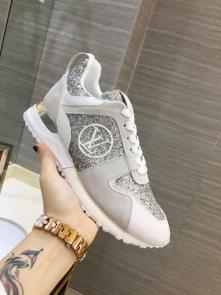 louis vuitton run away sneakers femmess price top layer cowhide with sequins gray