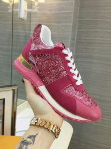 louis vuitton run away sneakers femmess price top layer cowhide with sequins plum red
