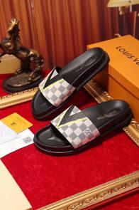 louis vuitton slippers cheap checkerboard lattice white