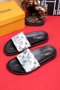 louis vuitton slippers cheap old graffiti white