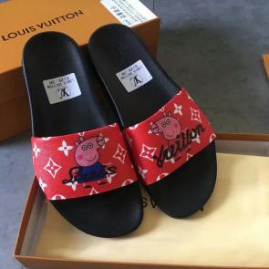 louis vuitton slippers cheap piglet matching red
