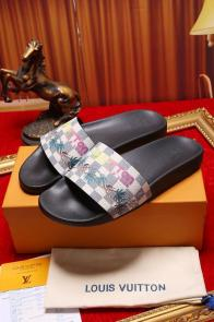 louis vuitton slippers cheap printing coconut tree abricot