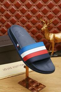 louis vuitton slippers cheap stripe blue