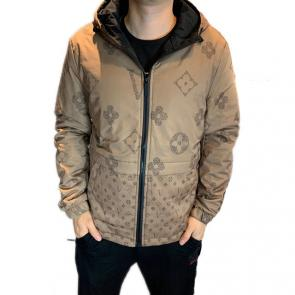 louis vuitton jacket homme monogramme double face lv beige