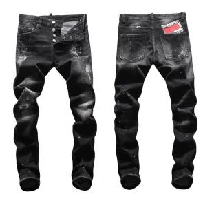 hommes dsquared2 jean en denim de coton black graffiti