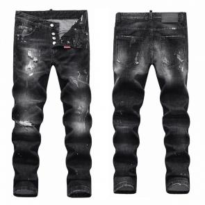 hommes dsquared2 jean en denim de coton black sale