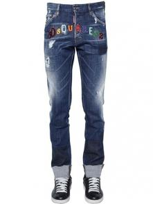 hommes dsquared2 jean en denim de coton cool guy blue
