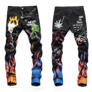 hommes dsquared2 jean en denim de coton flame fire
