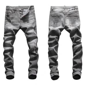 hommes dsquared2 jean en denim de coton gray