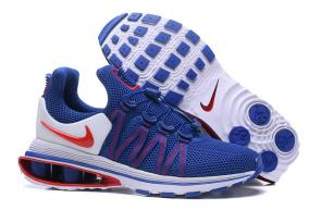 hommes nike shox gravity casual chaussures gem blue red