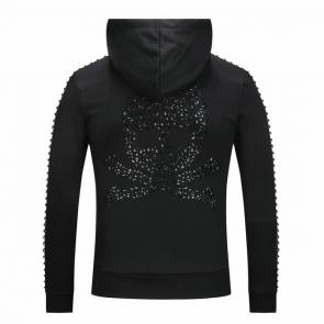 man philipp plein pull over automne  rivets skull shouder