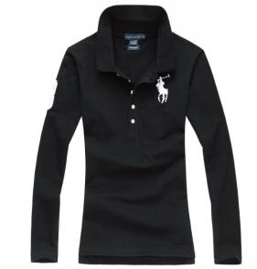 long sleeves t-shirt ralph lauren multicolor black pony white