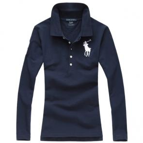 long sleeves t-shirt ralph lauren multicolor blue pony blanc