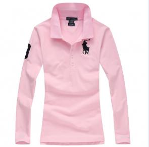 long sleeves t-shirt ralph lauren multicolor pink