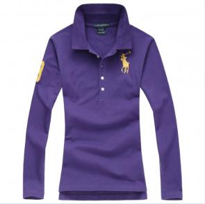 long sleeves t-shirt ralph lauren multicolor purple