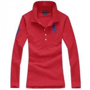 long sleeves t-shirt ralph lauren multicolor red