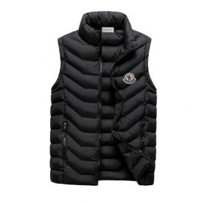 moncler down jacket without sleeves mc101 black