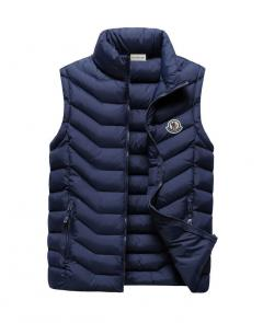 moncler down jacket without sleeves mc101 stripes