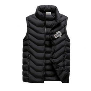moncler down jacket without sleeves mz104 noir discount