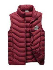 moncler down jacket without sleeves mz104 rouge