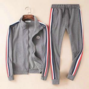 moncler jogging suit cotton moncler  emblem zipper