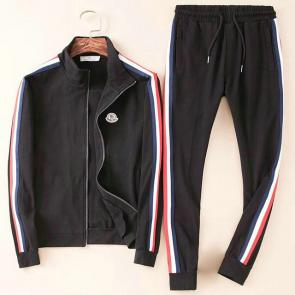 moncler jogging suit cotton moncler zipper noir