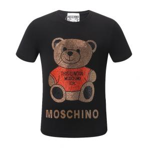 moschino t-shirt colourful classi teddy bear pearl decoration