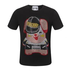 moschino t-shirt colourful cotton pig lady
