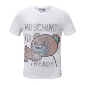 moschino t-shirt colourful to ready bear blanc