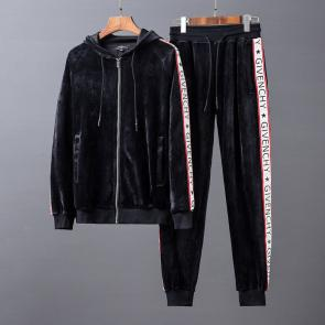new givenchy  sport sweat suits tracksuits jacket velours hoodie noir