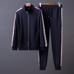 new givenchy  sport sweat suits tracksuits jacket zipper blue