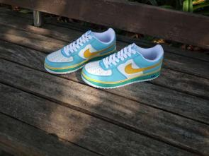 nike air force 1 avec lacet nike  leisure board shoes white blue