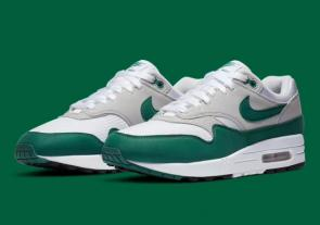 nike air max 1 trainers 2020 vert gray