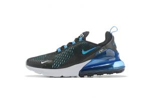 nike air max 270 flyknit homme double logo black blue