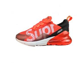 nike air max 270 flyknit trainers large supreme red