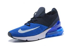 nike air max 270 flyknit trainers blue black