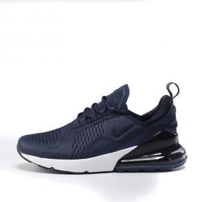 nike air max 270 flyknit trainers blue white