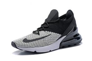 nike air max 270 flyknit trainers gray black knit