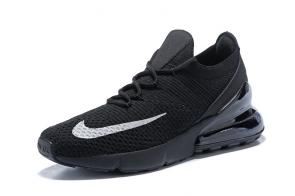 nike air max 270 flyknit trainers knit black