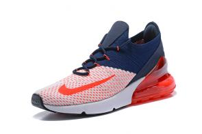 nike air max 270 flyknit trainers orange red